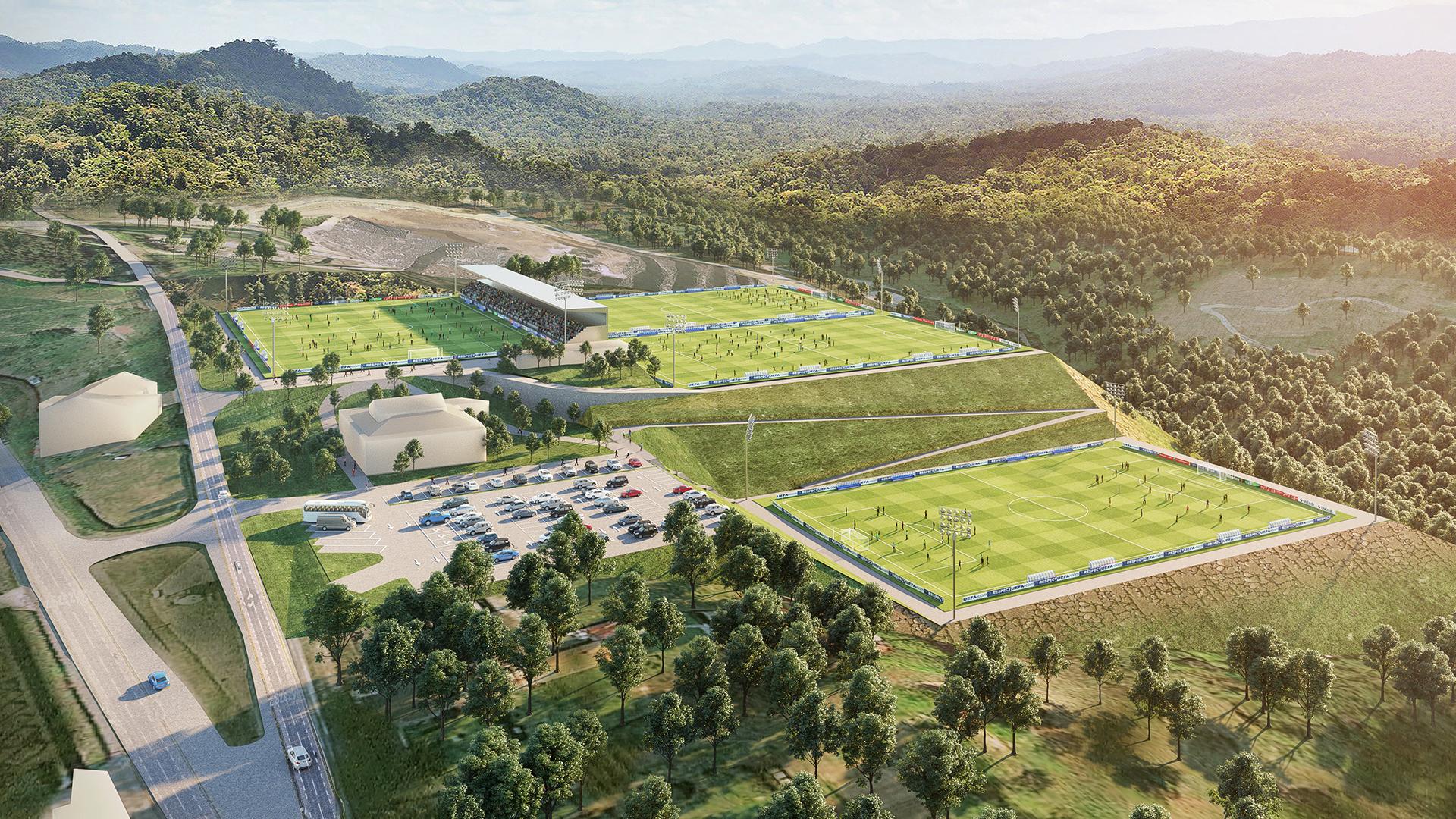 SD EIBAR Y LKS KREAN trabajan en el proyecto de las nuevas instalaciones deportivas en Areitio