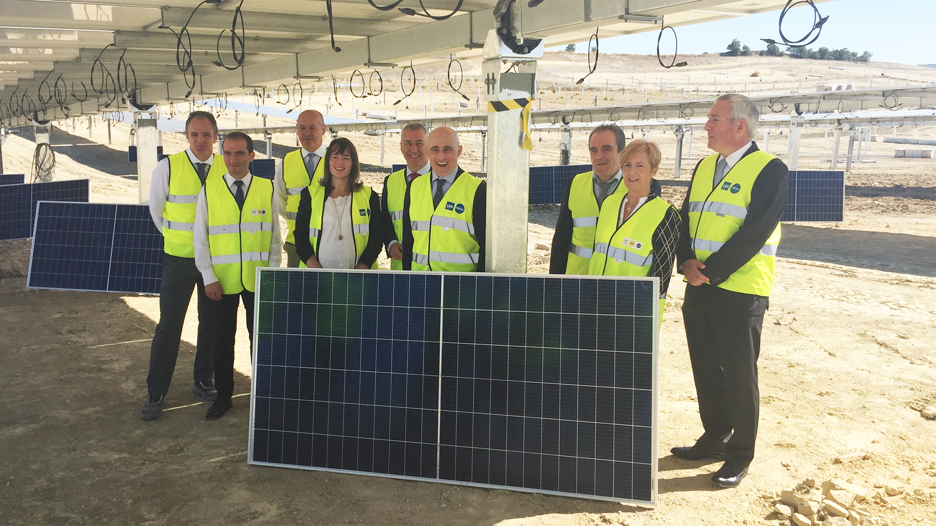 EKIAN, el mayor parque solar de Euskadi, acoge la instalación de las placas solares que entrarán en funcionamiento a final de año