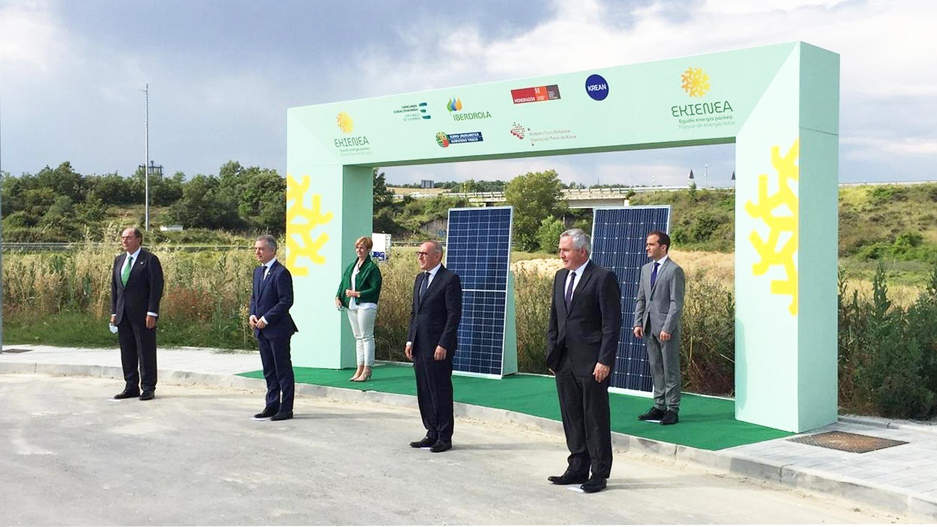 Presentación del proyecto EKIENEA, nuevo parque de energía fotovoltaica promovido por KREAN