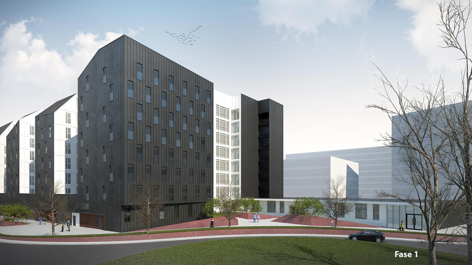 Avanza la construcción de alojamientos municipales para jóvenes en el barrio Ametzola de Bilbao
